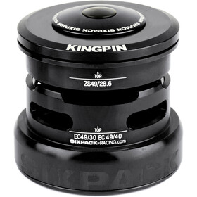 Sixpack Kingpin 2In1 Jeu de direction ZS49/28.6 I EC49/30 et ZS49/28.6 I EC49/40, black